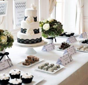 Bruidstaart Black & White Fiftys theme