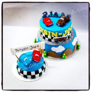 Cars taart met mepper