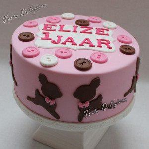 Elize 1 Jaar hertjes taart