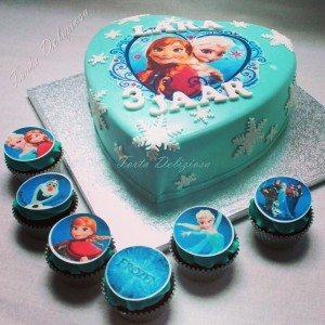 Frozen taart met cupcakes Lara