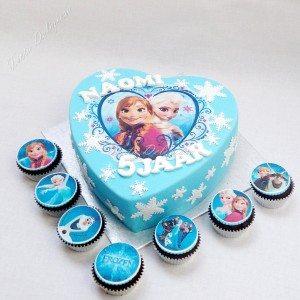 Frozen taart met cupcakes Naomi