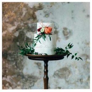 Buttercream Icing bruidstaart met bloemen