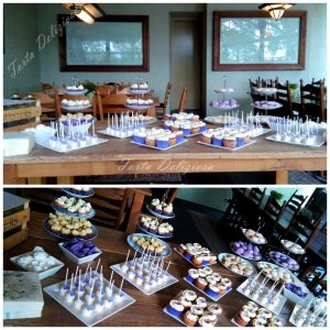 Sweet table zilver paars en wit