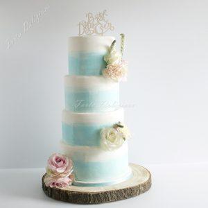 bruidstaart blue water color