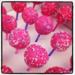 Cakepop pink sprinkels
