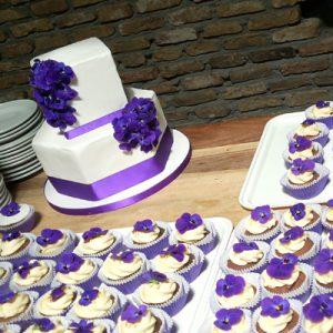 Uitvaarttaarten viooltjes eetbaar