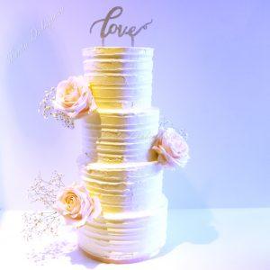 Swiss Merinque creme Bruidstaart Love Sparkels