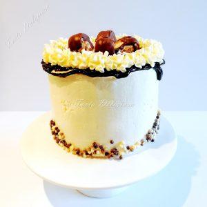 Meringue creme cake - banaan bokkenpootjes